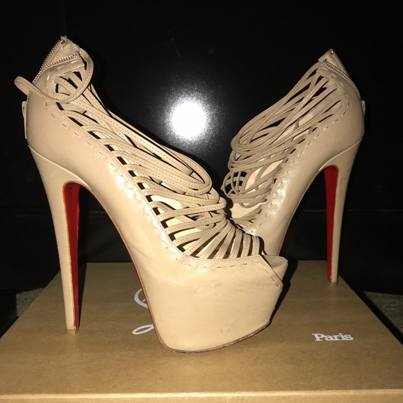 new styles c35a1 16c4a Christian Louboutin Zoulou Gladiator 6'inch heel